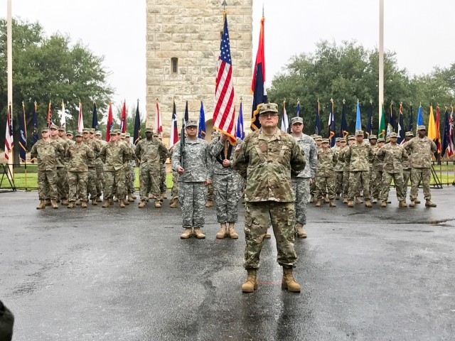 94th Training Division Welcomes 4th Brigade Health Services with Patching Ceremony