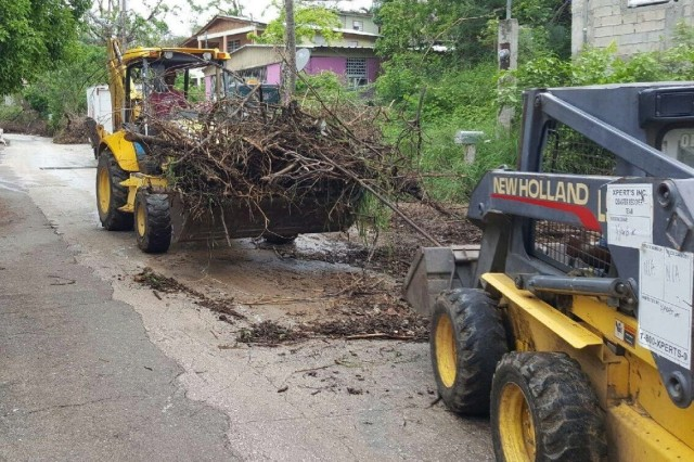 To date, in Ponce, Puerto Rico, U.S. Army Corps of Engineers contractors have removed more than 76,000 cubic yards of debris created by Hurricane Maria.