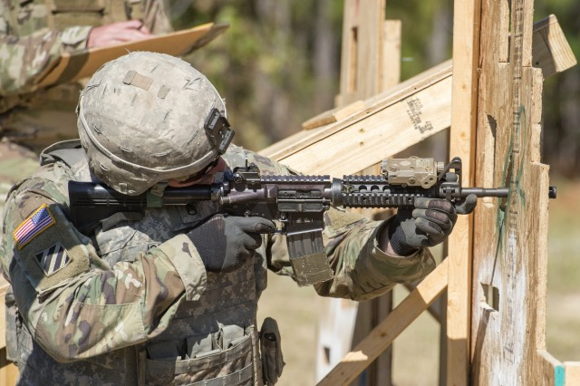 Soldiers from various units compete in the FORSCOM Small Arms Competition hosted by the 82nd Airborne Division on Fort Bragg, North Carolina. Through out the fourth week of October, 2017, three groups of competitors test their abilities in using one of three small arms weapons, the M249 Saw, Pistol and M4 Carbine.