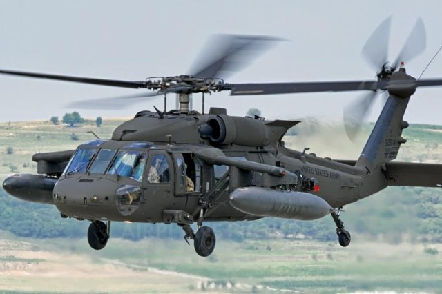 The damage sensing network is integrated into a conceptual composite UH-60M Black Hawk rotorcraft.