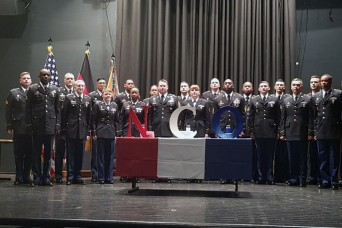 NCOs on stage