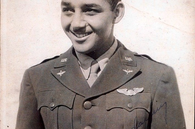 Retired Lt. Col. Robert Friend pictured as a young captain serving the 332nd Fight Group. Friend, one of the last surviving Tuskegee Airmen who served during World War II, spoke to groups of high school students in southern California earlier this month.