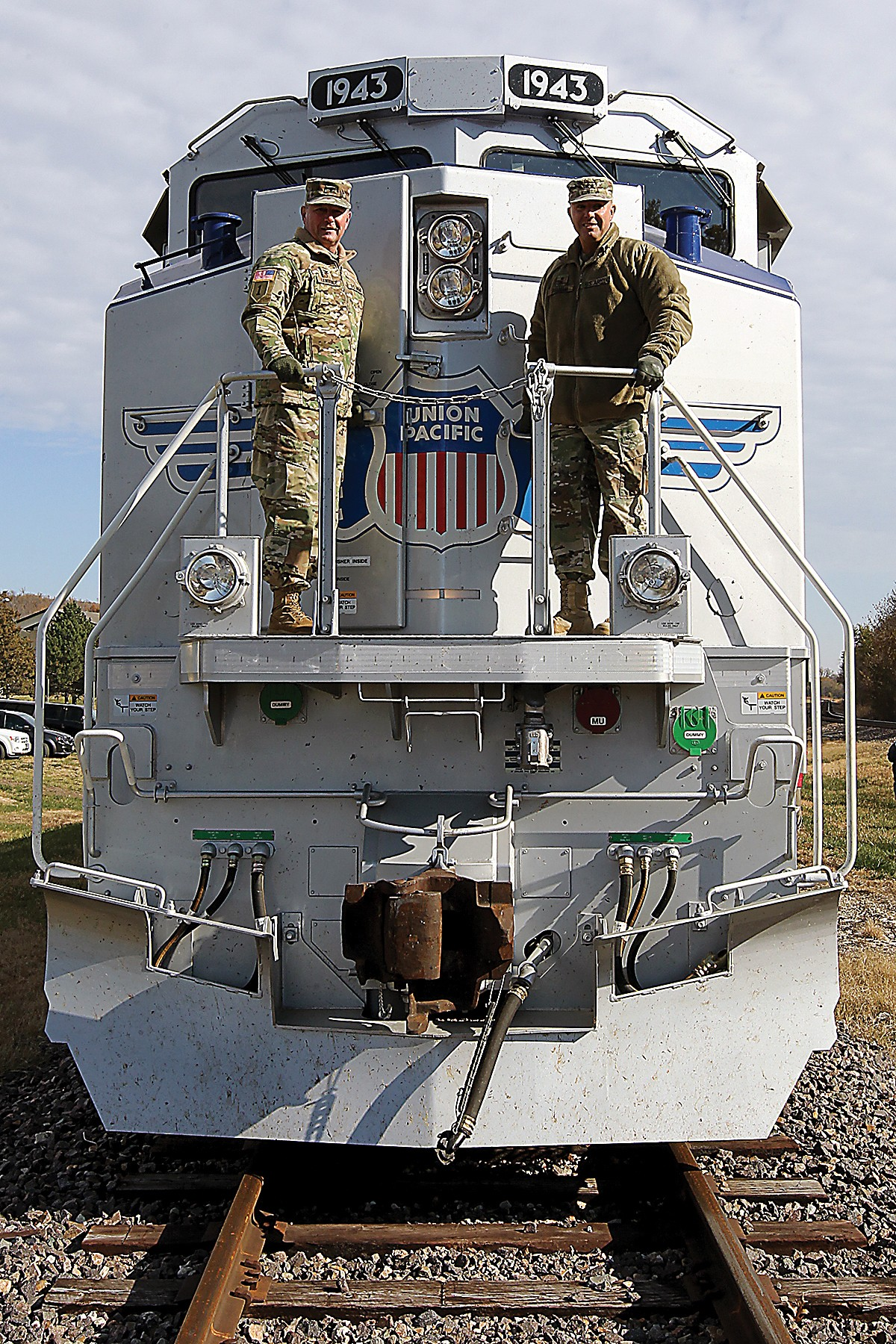 locomotive makes first stop at fort riley to honor soldiers