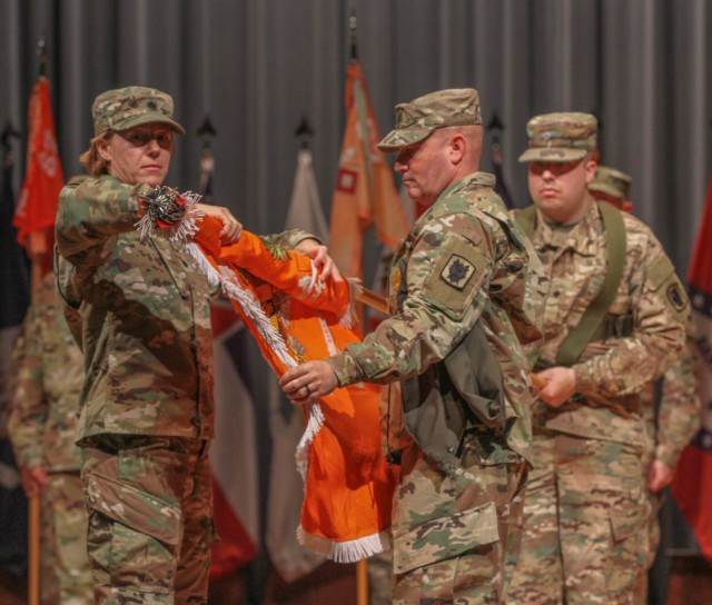 67th Expeditionary Signal Battalion is Welcomed Home during Uncasing Ceremony