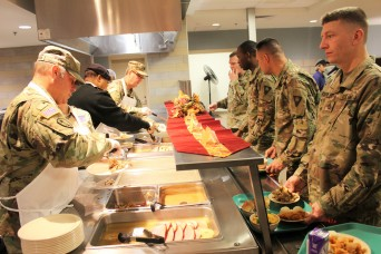 Sustainment Brigade Soldiers bring Thanksgiving cheer to fellow troops in Afghanistan