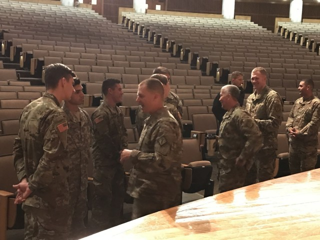 Bonner talks CBRN and EOD with USMA cadets and faculty