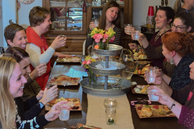 "A group of Fort Leonard Wood military spouses gathered to celebrate the upcoming holidays Nov. 9. With families often being stationed far from ""home,"" many military community members create their own traditions."