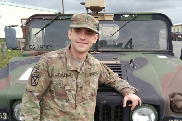 "Sgt. Lukasz Szpakowski, an M1A2 Abrams tank systems maintainer assigned to 1st Battalion, 63rd Armor Regiment, 2nd Armored Brigade Combat Team, 1st Infantry Division, Fort Riley, Kansas, enjoys Poland, the land of his birth. Szpakowski, pictured on Nov. 18, 2017, is among the Dagger Brigade's ""heel-to-toe"" rotation of U.S. Soldiers ready to train with allied and partnered nations to demonstrate combat proficiencies and capabilities during Atlantic Resolve exercises across Central Europe."