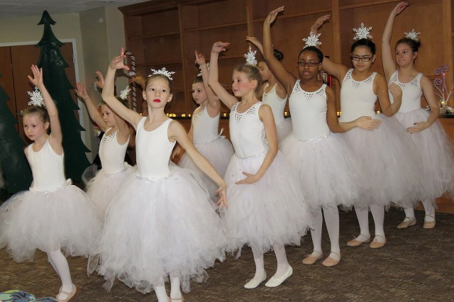 "Snowflakes dance in a special performance of ""The Nutcracker"" presented at Madigan Army Medical Center's Joint Base Lewis-McChord Children's Autism Resource & Education Services by SKIES Unlimited on Nov. 17, JBLM, Wash. [U.S. Army Photo by Kirstin Grace-Simons/Released]"