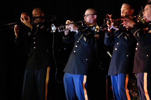 Members of the Maneuver Center of Excellence Fort Rucker Detachment Band perform Christmas classics during the Commanding General's Holiday Concert last year. This year's concert will be Dec. 11 from 7-8 p.m. at the post theater.