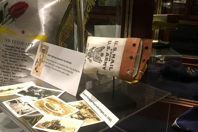 Some of the artifacts museum curators from Patton Museum loaned to officials at the state capitol in Frankfort, Kentucky, for a display case that officials are looking to make a permanent fixture in commemoration of the military's role in state history.