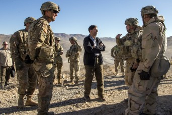 SecArmy commits to building a more lethal, agile force during visit to National Training Center