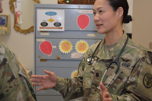Lt. Col. Hyun J. Kang, chief of Operational Medicine at Kimbrough Ambulatory Care Center, discusses upcoming DoD PHA, a new defense-wide assessment tool, which will enhance medical readiness of all service members.