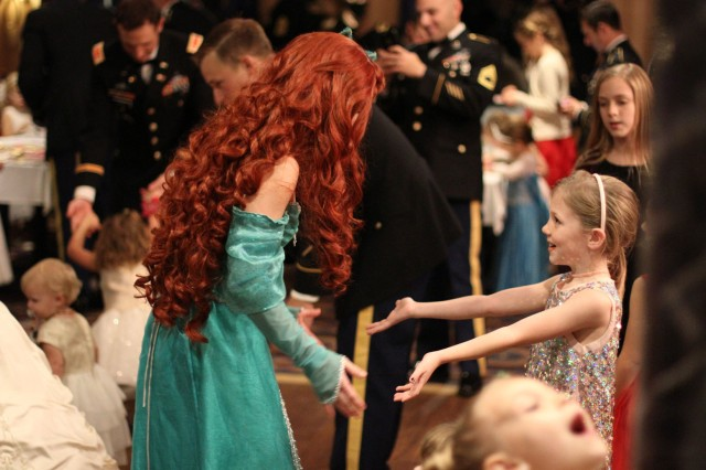 Merida was one of four princesses on hand at the Father-Daughter Ball, December 1, at the Riverboat Georgia Queen. About 87 Rangers and their daughters participated in the event.