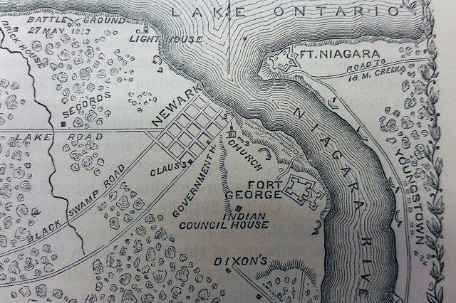 Just two months prior to establishing the arsenal at Gibbonsville, N.Y., the U.S. forces captured Fort George on May 27, 1813, after suffering  41 killed in action and 113 wounded.  Fort George is the western most of the British fortified posts on Lake Ontario situated on the western bank of the Niagara River near its mouth.  The British suffered 52 killed, 44 wounded and 262 missing.