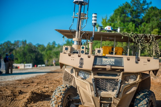 A Maneuver Robotics and Autonomous Systems Live Fire Demonstration takes place Aug. 22, 2017 at the Digital Multi-Purpose Range Complex at Fort Benning, Ga. The Army wants to design a Remote Combat Vehicle like this but much more lethal and maneuverable.