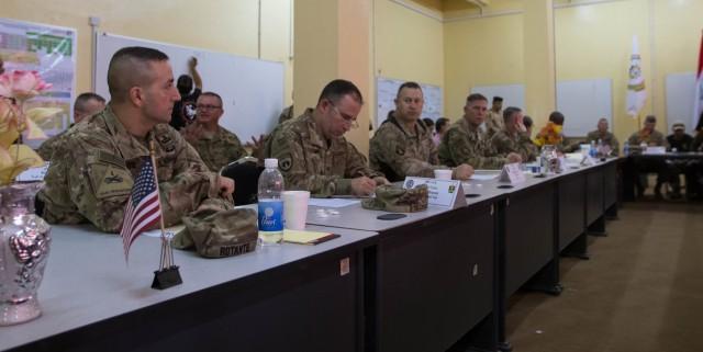 1st TSC - OCP command staff attends logistics symposium