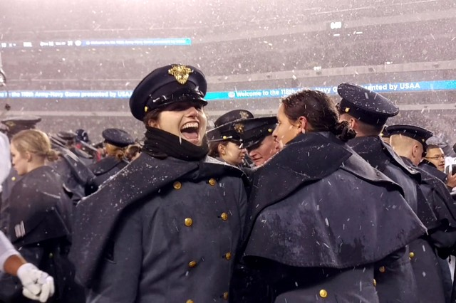 Army cadets stormed the field for the second straight year, after Army defeated Navy 14-13 and claimed the Commander-In-Chief's trophy.