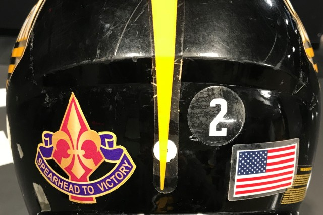 "The 177th Armored Brigade's Distinctive Unit Insignia will be featured on the helmets of the University of Southern Mississippi football team when the ""Golden Eagles"" play Florida State in the Walk-On's Independence Bowl in Shreveport, Louisiana, Dec. 27."