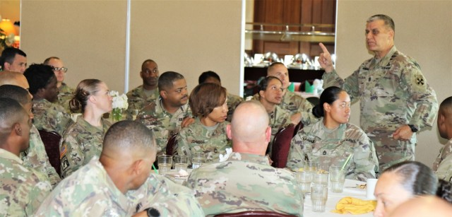 Eighth Army top enlisted leader visits team 19