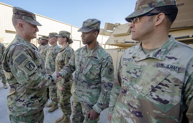 AMC deputy commander assesses APS-5 readiness, combat configuration