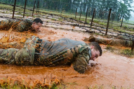 Paratroopers assigned to the 82nd Airborne Division, participate in the Best Squad Competition, located on Fort Bragg, N.C., May 23, 2017. It is an All American Week tradition where squads from throughout the division complete an obstacle course, a warrior skills lane, a combat lifesaver skills lane and stress shoot for time.