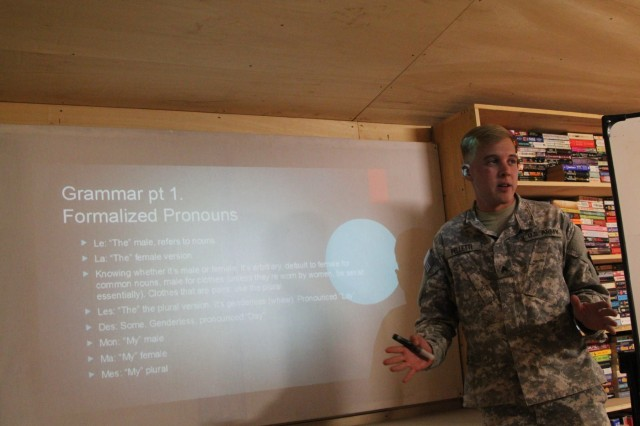 Servicemembers learn to Parlez Francais in Garoua, Cameroon