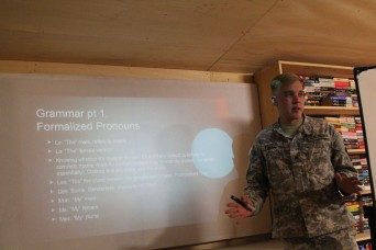 Service Members learn to Parlez Francais in Garoua, Cameroon