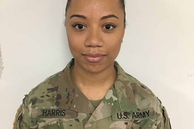 Wisconsin National Guard Spc. Jasmyne Harris saved the life of a choking toddler when she was traveling through Chicago's O'Hare Airport on Dec. 7, 2017.