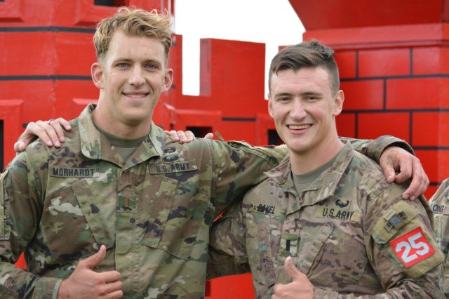 2017 was a year of many outstanding achievements within the 8th TSC. The 130th Engineer Best Sapper team consisting of 1st Lt. Jacob Davel and 2nd Lt. Christopher Morhardt placed 4th out of 40 teams. (U.S. Army Photo by Capt. Adam Cartier)