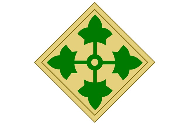 4th Infantry Division shoulder insignia.