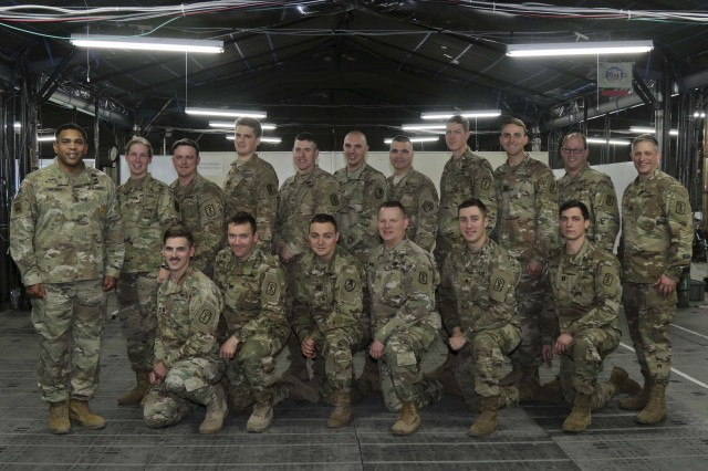 (Left to Right, Front) Cpt. Catlan Sardina, Cpt. Kyle Borne, Cpt. Richard Colvin, Maj. Scott Hastings, Spc. Hunter Wilson, Cpt. Richard Bullis, (Back) Master Sgt. Herman Hodges, Sgt. Susanna Brodie, Spc. Daniel Burg, Cpt. Matthew Pierce, Maj. Christopher Wagener, Sgt. Justin Lane, Chief Warrant Officer 4 Thomas O'neil, Maj. Marc Cleveland, 1st Lt. John Marotti, Sgt. Jacob Kohrs, Col. Christopher W. Wendland, soldiers from 17th Field Artillery Brigade, U.S. Army Cyber and U.S. Space and Missle Command, pose for a picture at the end of Yama Sakura 73, Camp Sendai, Japan, Dec. 10, 2017. Yama Sakura 73 is a command post exercise between the U.S. Military and the Japan Self-Defense Forces, Dec. 1-12, 2017. (Photo by JGSDF PAO)