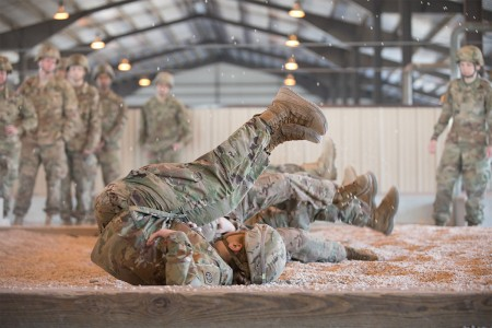 U.S. Army and partner nation paratroopers conduct Sustained Airborne Training during the 20th Annual Randy Oler Memorial Operation Toy Drop at Fort Bragg, N.C., Nov. 30, 2017. This year; Colombia, Canada, Latvia, the Netherlands, Sweden, Italy, Germany, and Poland participated. Operation Toy Drop, hosted by the U.S. Army Civil Affairs & Psychological Operations Command (Airborne) is the largest combined airborne operation conducted worldwide. The event allows Soldiers the opportunity to train on their military occupational specialty, maintain their airborne readiness, and give back to the local community.