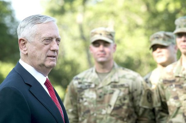Defense Secretary Jim Mattis said there is a blurring line that separates conventional operating forces from special operations forces, and he expects general purpose forces will eventually shoulder missions once the province of their special forces brethren.