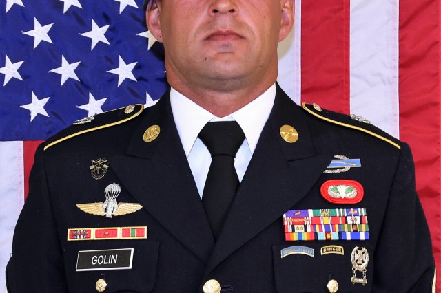 Sgt. 1st Class Mihail Golin, an 18B Special Forces Weapons Sergeant assigned to 10th Special Forces Group (Airborne), died Jan. 1, 2018, as a result of wounds he sustained while engaged in combat operations in Nangarhar Province, Afghanistan.