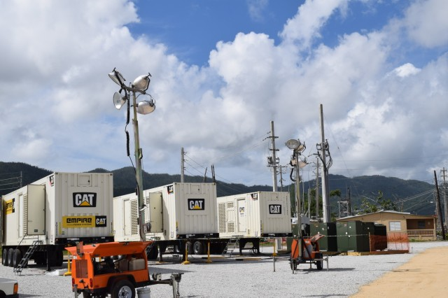The microgrid temporary power system continues to supply critical power in Maunabo, Puerto Rico, until the town's main grid is back online.