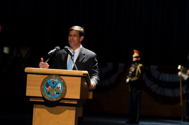 The Army family welcomed the 23rd Secretary of the Army Mark T. Esper Friday, Jan. 5, 2018 at Joint Base Myer-Henderson Hall, Virginia.