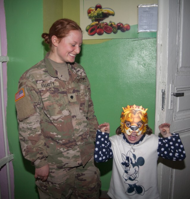 New York Army National Guards Soldiers deployed to Ukraine visits local orphanage