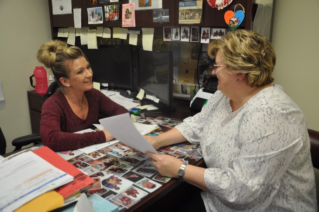 Ms. Tracy Wooten, Acting Quality Manager, announces to Ms. Tiffany Dipman, Patient Advocate, Medical Department Activity, that she is the winner of the 2017 Beneficiary Counseling and Assistance Coordinator Award for MEDCOM. This award is given to Ms. Dipman for her selfless service to active and retired service members and families at Munson Army Heath Center for 2017.