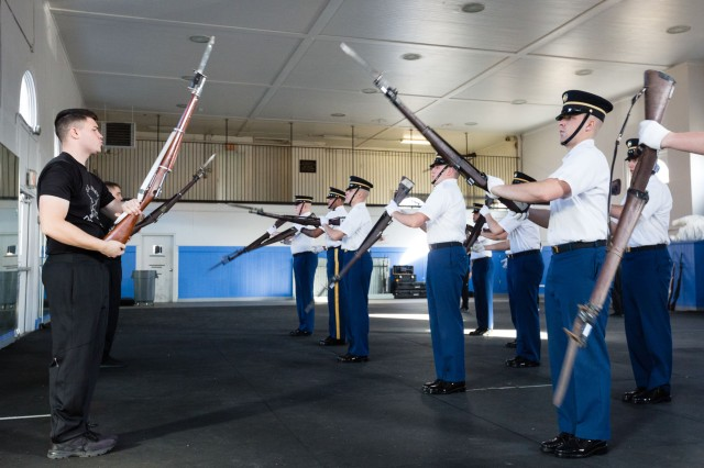 The U.S. Army Drill Team conducts a training exercise at Fort Lesley J. McNair Jan. 9.