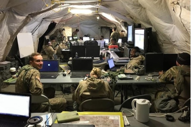 The 1st Armored Brigade Combat Team, 3rd Infantry Division successfully piloted the Army's National Security Agency-accredited Secure Wi-Fi capability for a second time during decisive action training at the National Training Center, at Fort Irwin, California, in November 2017.