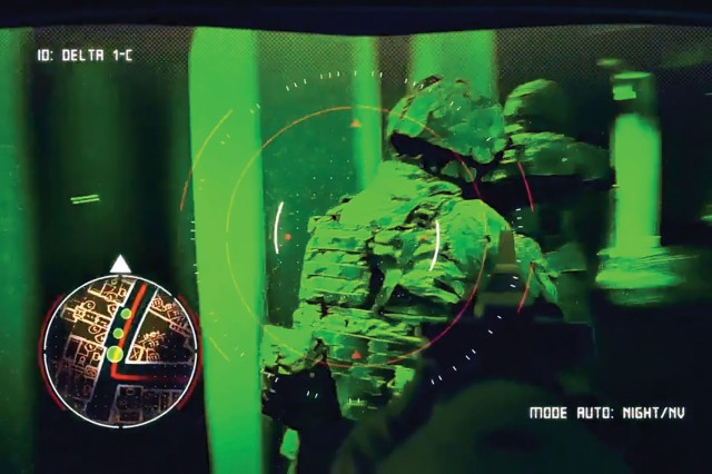 In augmented reality, computer-generated or real-world sensory content is placed on top of a Soldier's view of the real-world environment.
