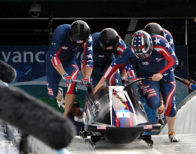 Sgt. Justin Olsen on way to Olympic Gold in 2010 Bobsled