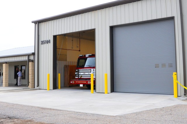 Knox Army Heliport's new fire station officially opened Jan. 10 and boasts a day room, kitchen, training room, office, six dorm rooms, laundry room, and separate men's and women's bathrooms, including showers.