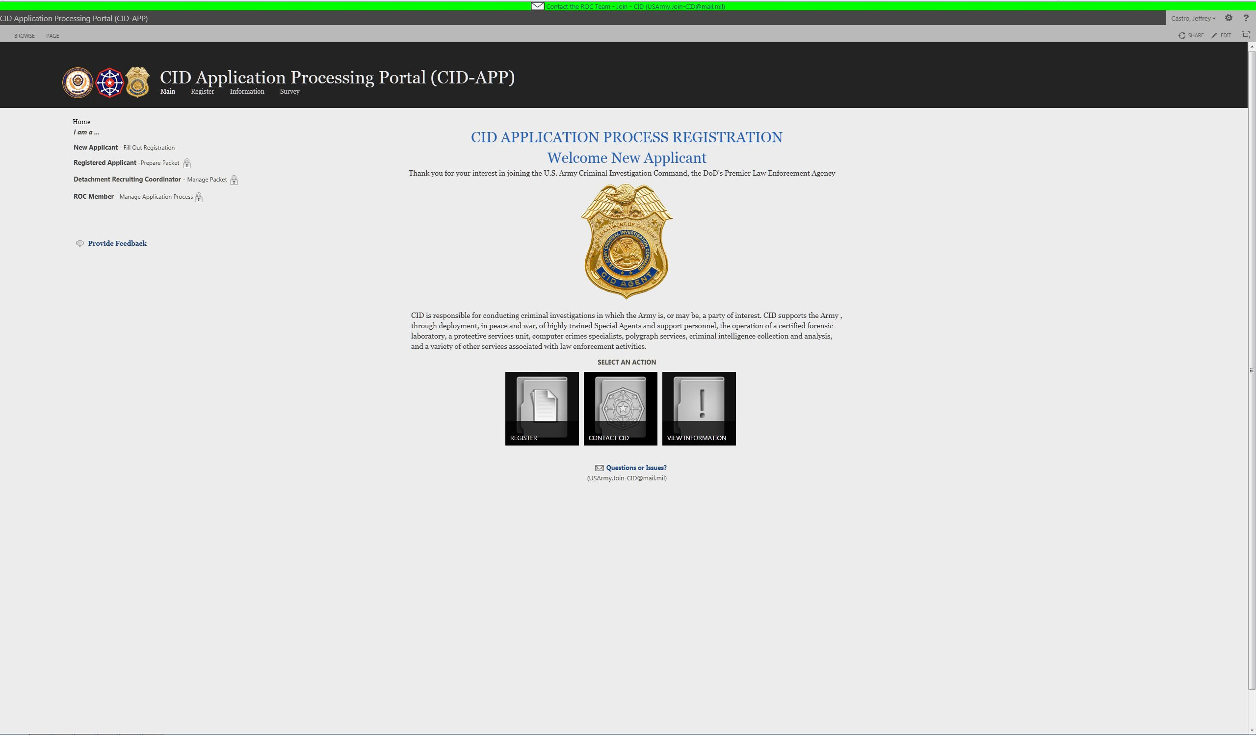 Change to CID agent application criteria | Article | The