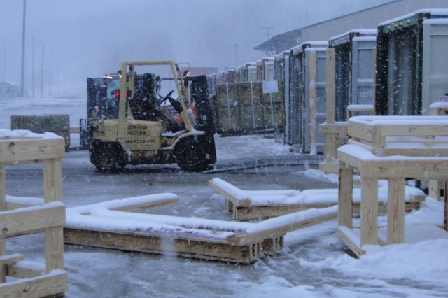 Crane Army Ammunition Activity employees work through snow, ice, sleet, and freezing temperatures to make sure Warfighters are supplied with munitions and equipment