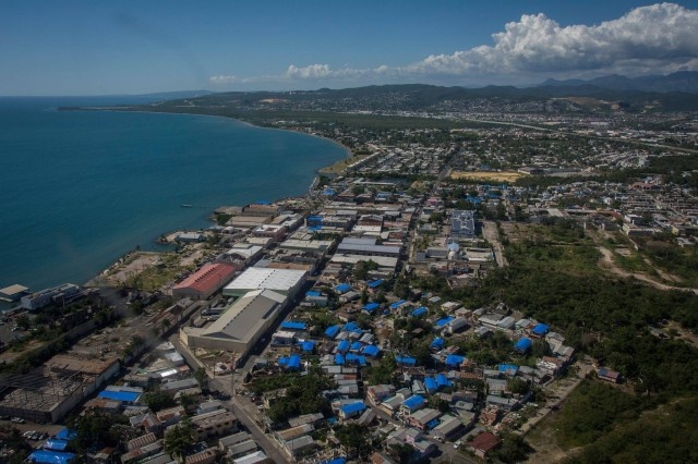 Contractors working for the U.S. Army Corps of Engineers installed the 50,000th blue roof for Puerto Rico residences damaged by hurricanes Irma and Maria, approaching three-quarters of buildings approved for the program.