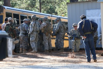 FORT POLK, La. - There was a total of about 1,100 Soldiers from the 1st Brigade Combat Team, 10th Mountain Division, Fort Drum, New York, assisted the 1st Security Force Assistance Brigade with their mission readiness exercise at Fort Polk, La. The M...