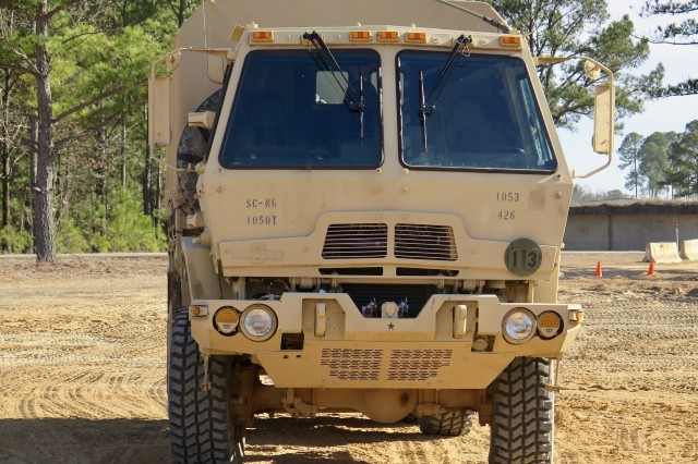 U.S. Soldiers attend training in the Motor Transport Operator Course in 4th Battalion, 218th Regiment Training Institute, South Carolina National Guard at the McCrady Training Center in Eastover, South Carolina, Jan. 24th, 2018. The students from various military components from around the nation are attending the two phase, 8-week long course from Jan. 20 - Feb. 17, 2018 to reclassify to the 88M military occupational skill.