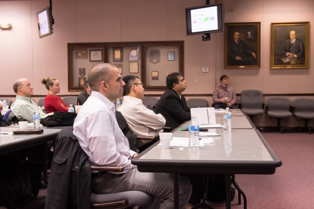 Nearly a dozen professors from the University of North Texas toured the U.S. Army Research Laboratory's APG facilities Jan. 18, 2018.